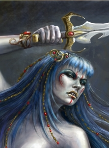 Princess Marilith of Xapndarr--a wild, uncivilized member of Xaphan royalty, ever at odds with the League (Carol Phillips)