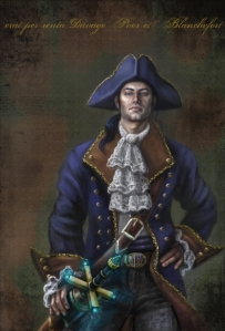 Captain Davage of the House of Blanchefort, a well-known Vith household possessing the Gift of Sight (Carol Phillips)