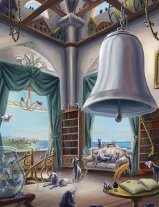 The Autopyle room overlooking the Bay of Bloodstein (painting by Ewelina Dolzycka)