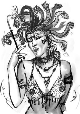 snake head whore sketch2
